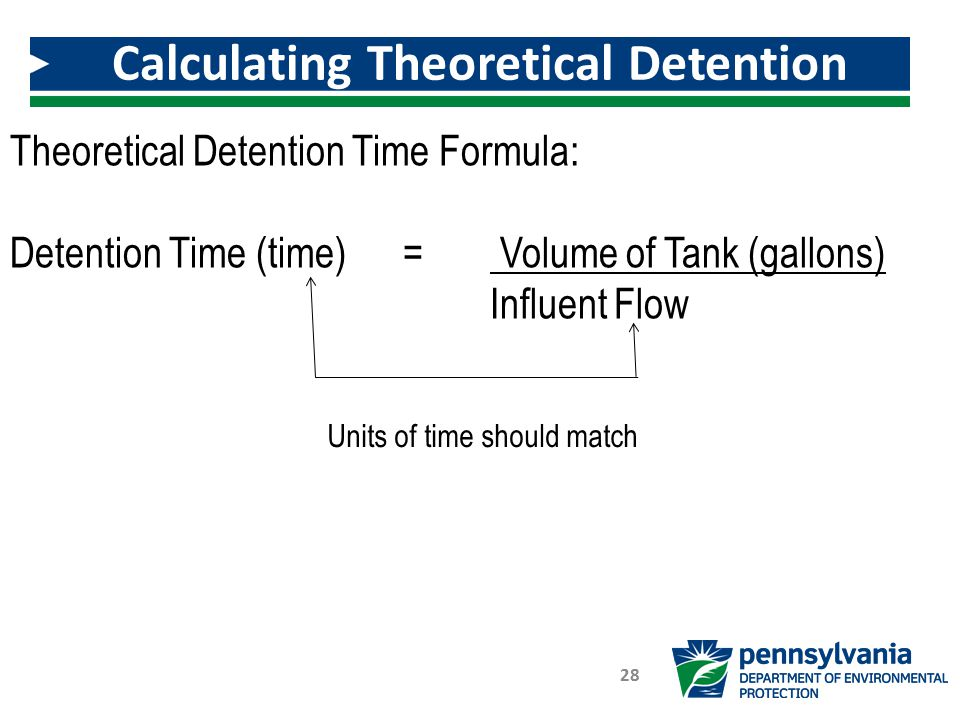 Calculating Theoretical Detention Time