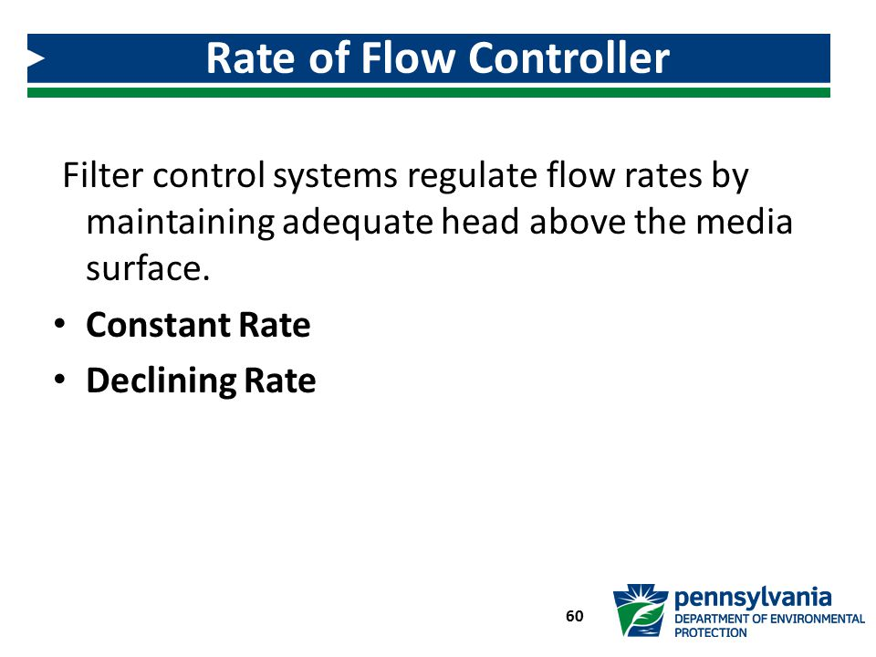 Rate of Flow Controller