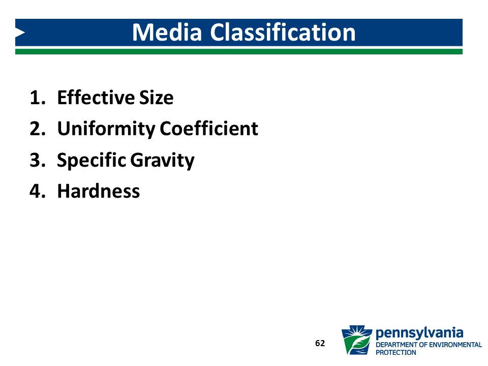 Media Classification Effective Size Uniformity Coefficient