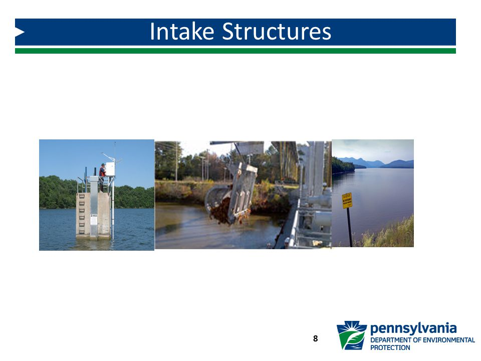 Intake Structures Intake structures found on page 1-8