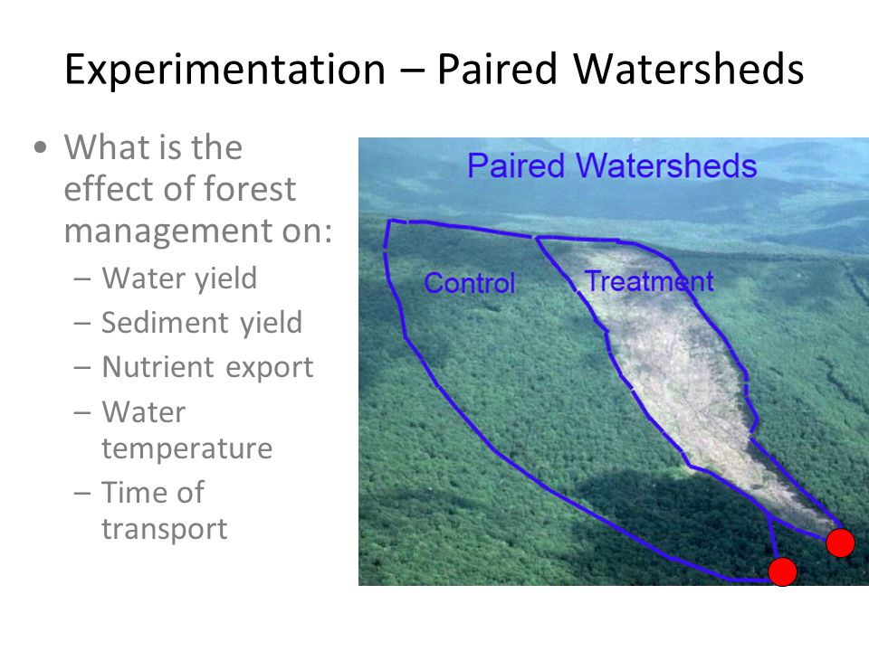 Experimentation – Paired Watersheds