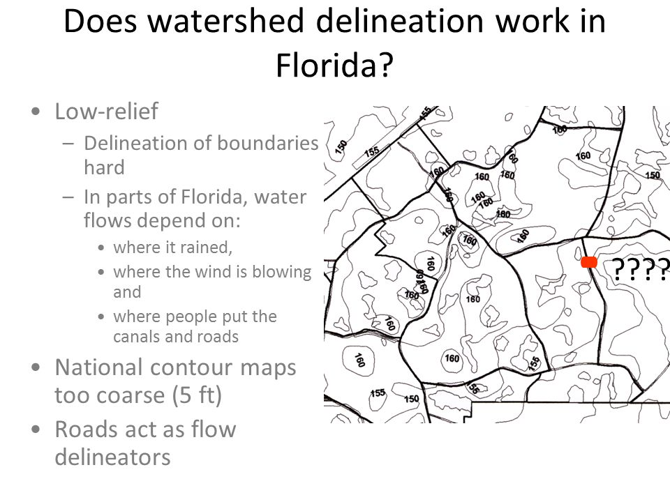 Does watershed delineation work in Florida