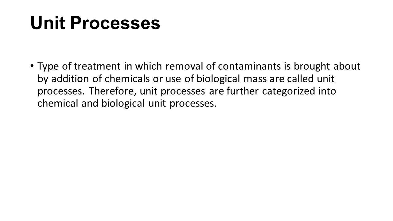 Unit Processes