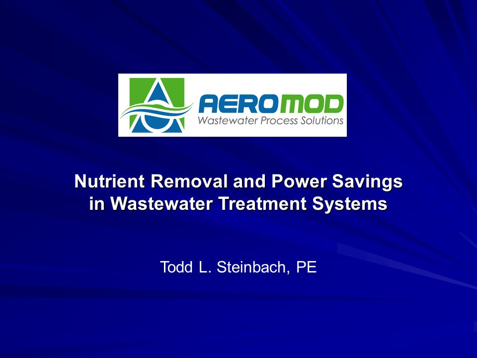 Nutrient Removal and Power Savings in Wastewater Treatment Systems
