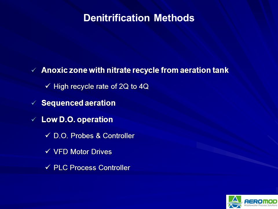 Denitrification Methods