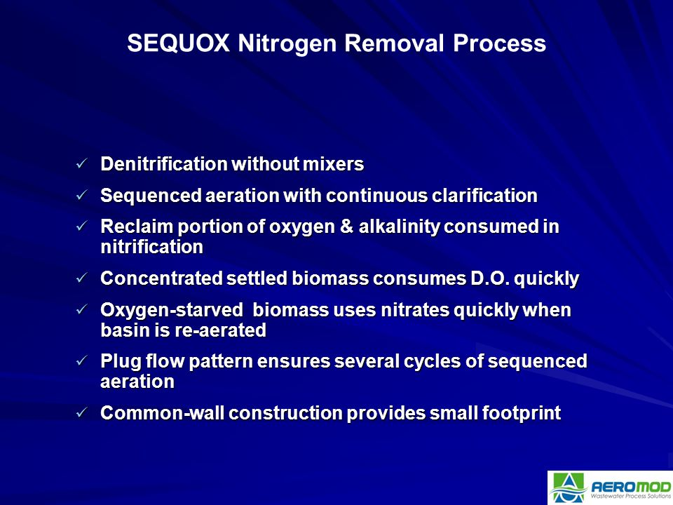 SEQUOX Nitrogen Removal Process