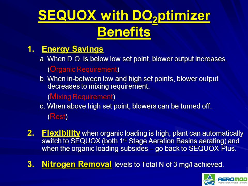 SEQUOX with DO2ptimizer Benefits