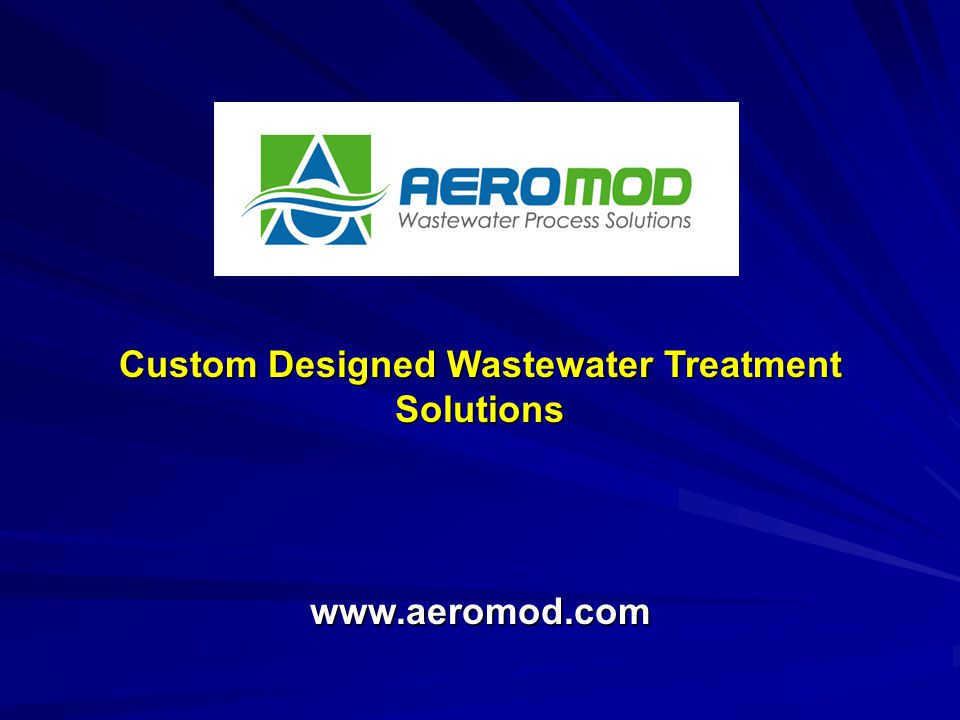 Custom Designed Wastewater Treatment Solutions