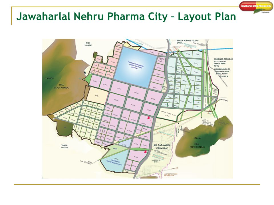 Jawaharlal Nehru Pharma City – Layout Plan