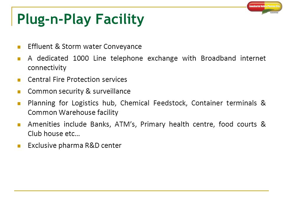 Plug-n-Play Facility Effluent & Storm water Conveyance