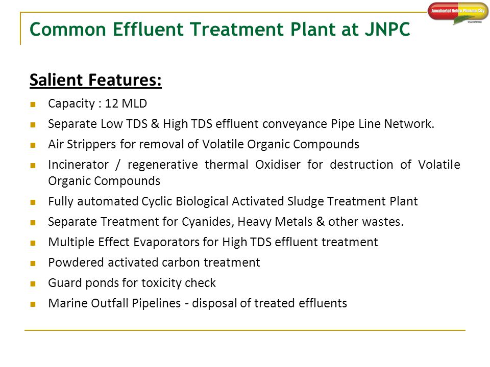 Common Effluent Treatment Plant at JNPC