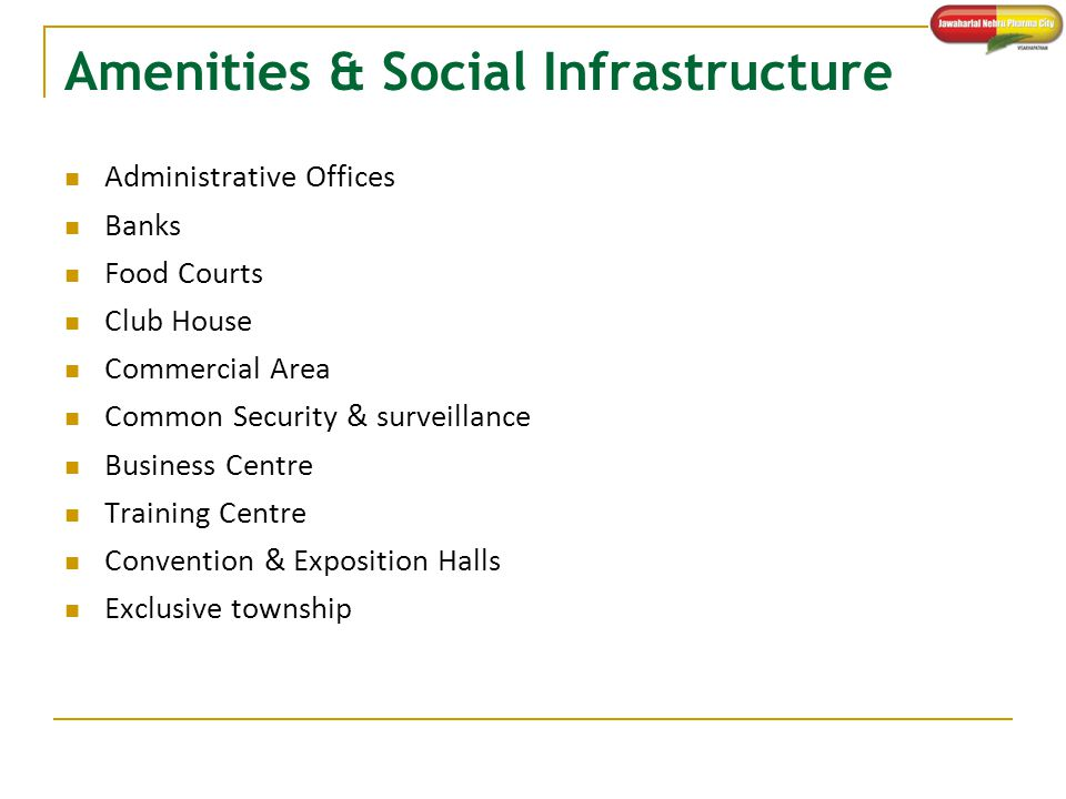 Amenities & Social Infrastructure