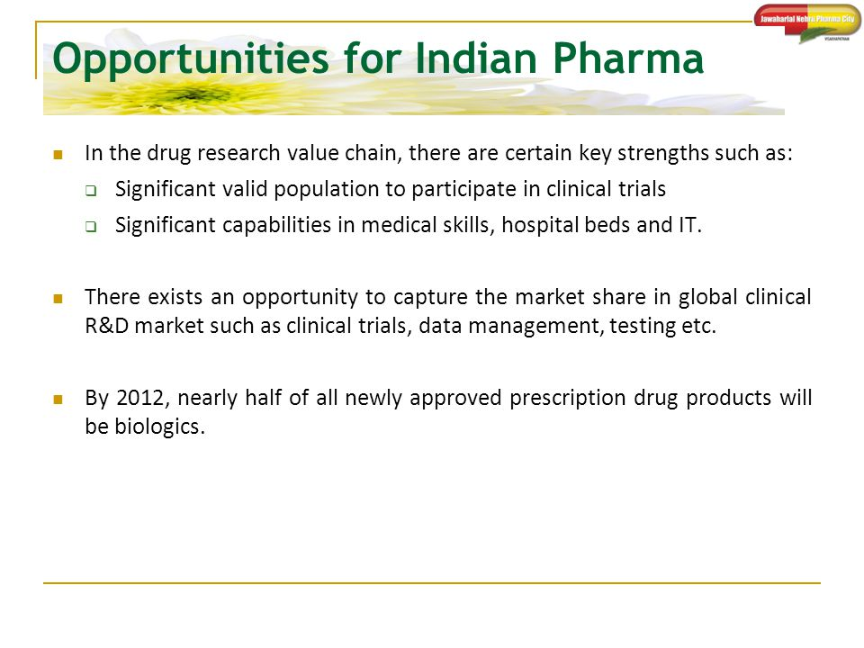 Opportunities for Indian Pharma