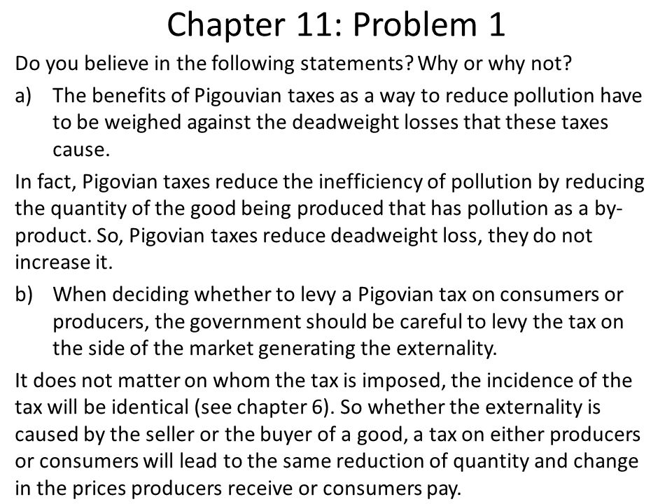 Chapter 11: Problem 1 Do you believe in the following statements Why or why not