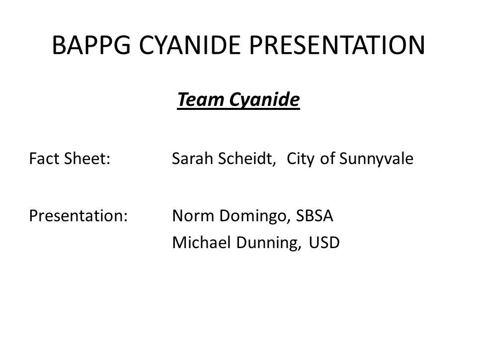 BAPPG CYANIDE PRESENTATION