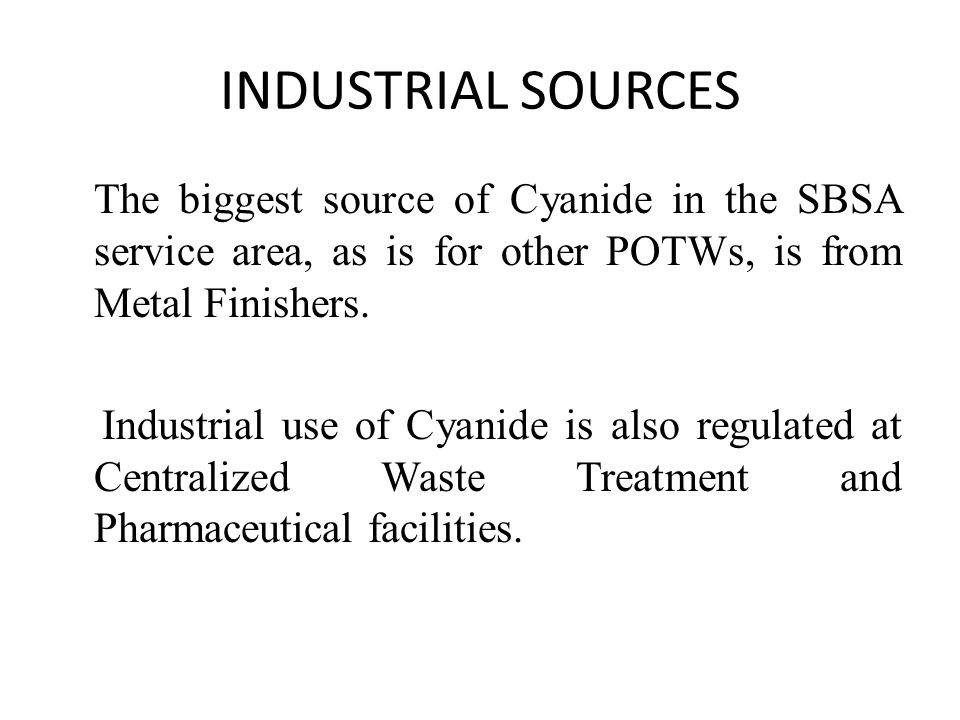 INDUSTRIAL SOURCES