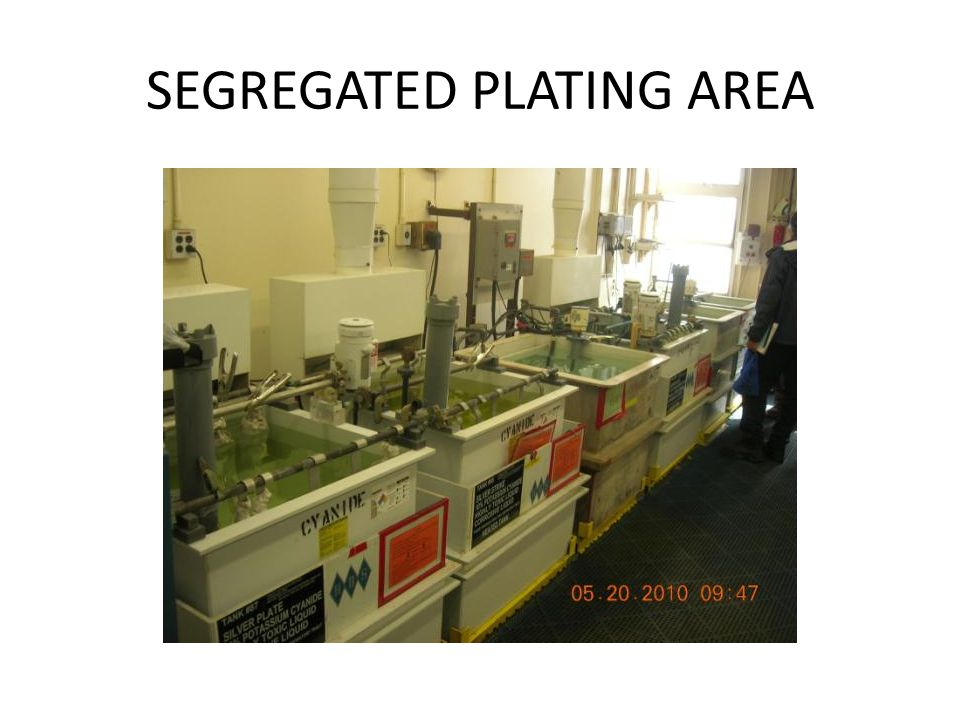SEGREGATED PLATING AREA