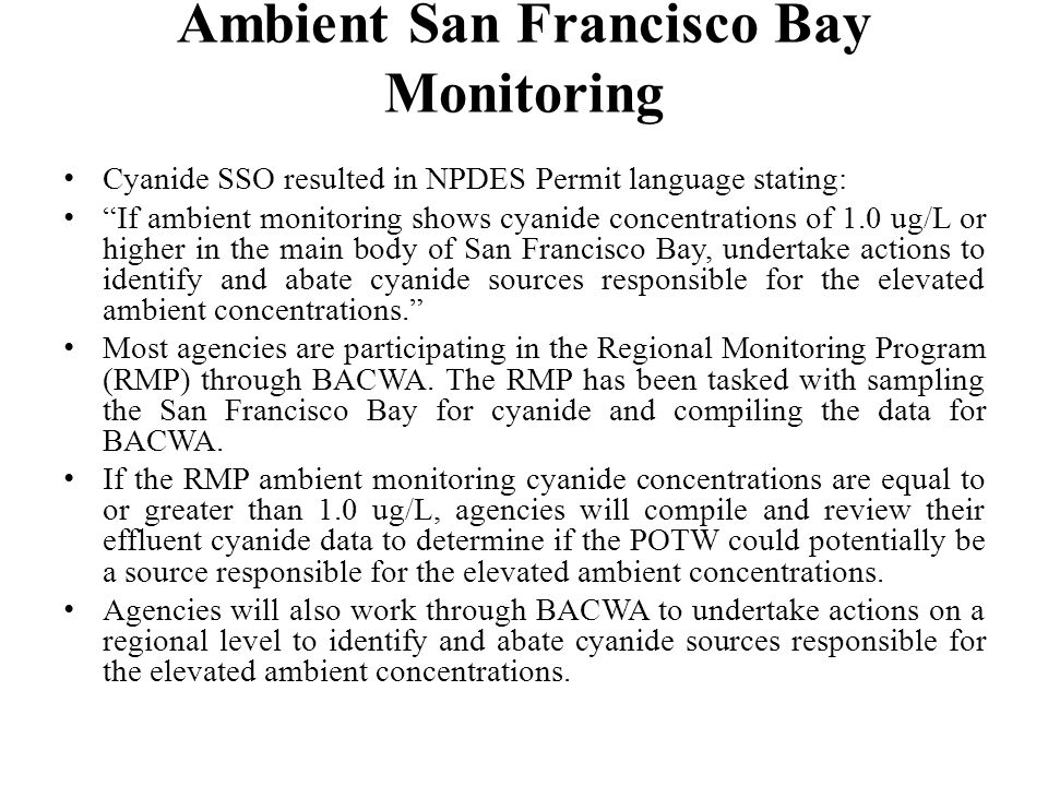 Ambient San Francisco Bay Monitoring