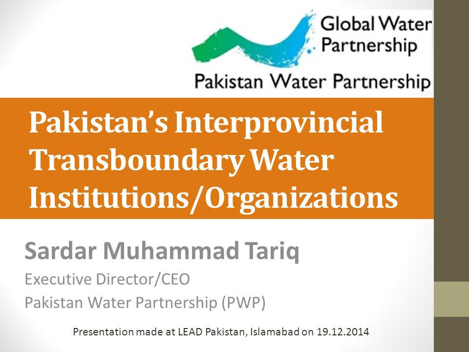 Presentation made at LEAD Pakistan, Islamabad on 19.12.2014