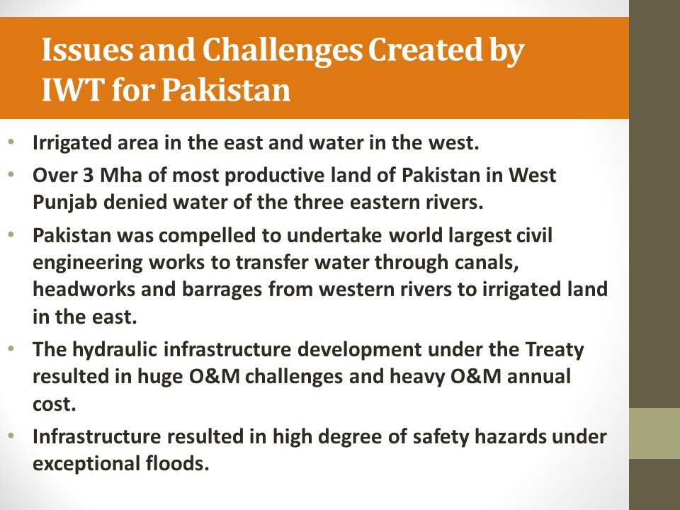 Issues and Challenges Created by IWT for Pakistan