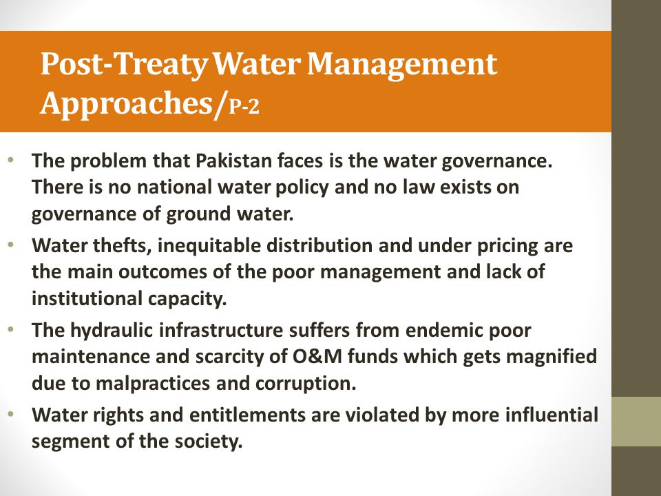 Post-Treaty Water Management Approaches/P-2