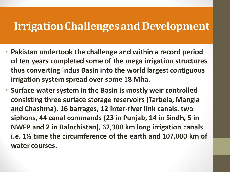 Irrigation Challenges and Development