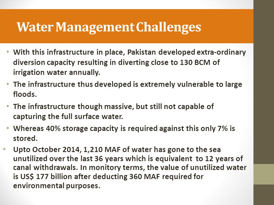 Water Management Challenges