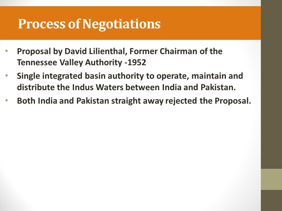 Process of Negotiations