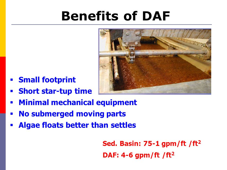 Benefits of DAF Small footprint Short star-tup time