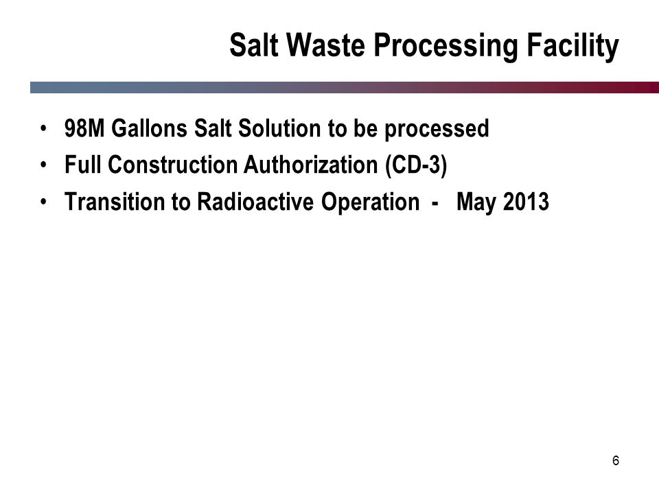 Salt Waste Processing Facility