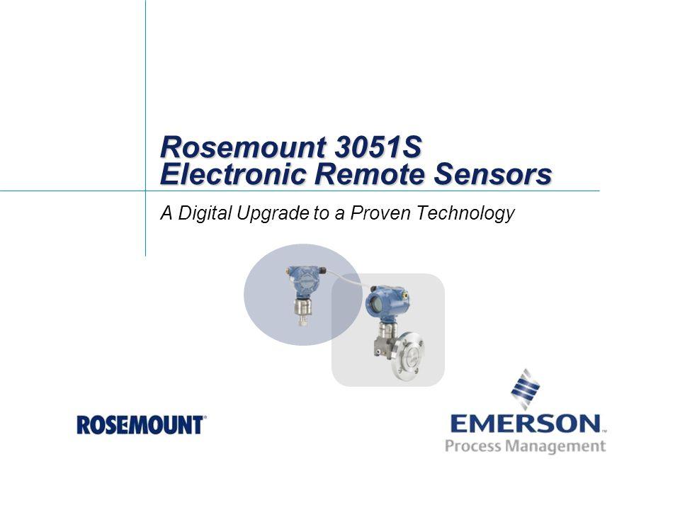 Rosemount 3051S Electronic Remote Sensors