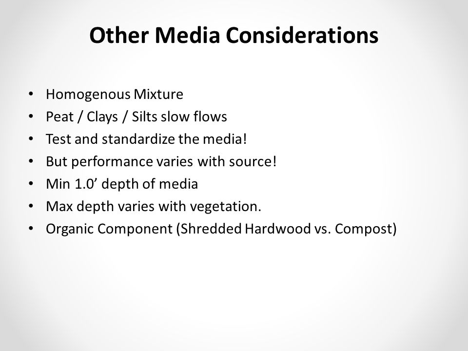 Other Media Considerations