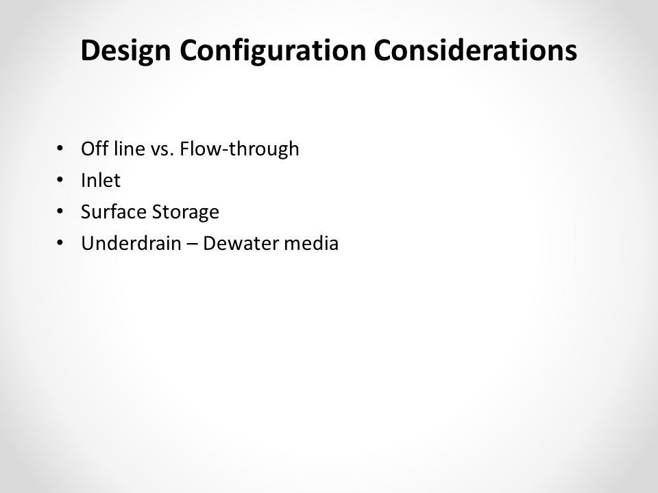 Design Configuration Considerations