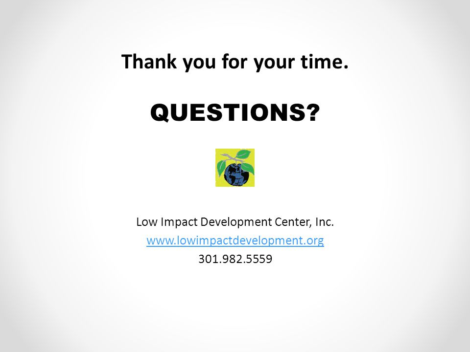Low Impact Development Center, Inc.