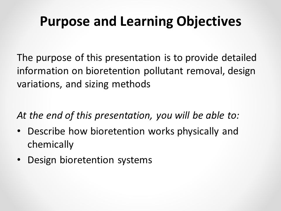 Purpose and Learning Objectives