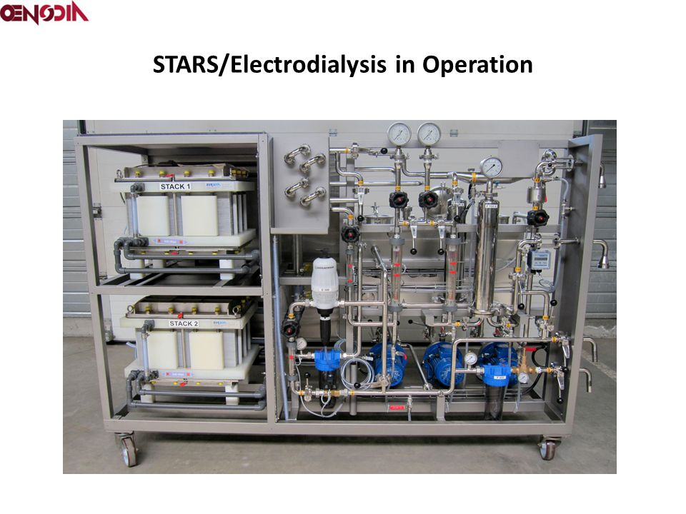 STARS/Electrodialysis in Operation