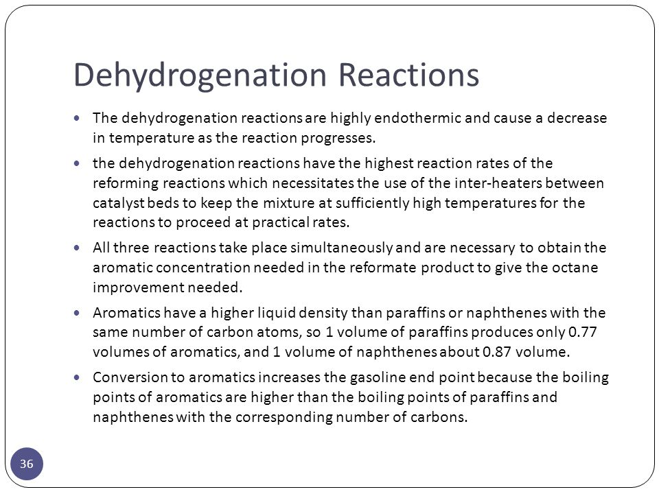 Dehydrogenation Reactions