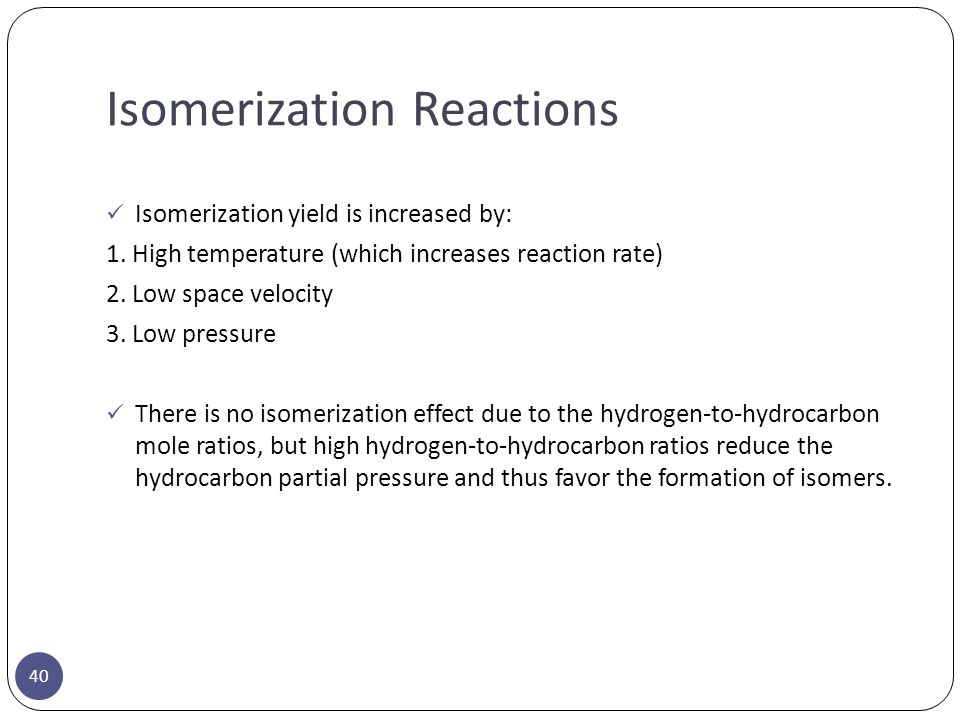 Isomerization Reactions