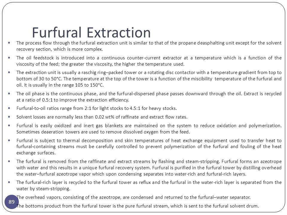 Furfural Extraction