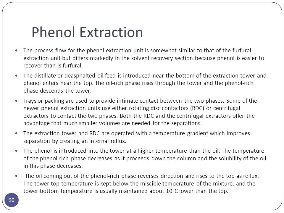 Phenol Extraction