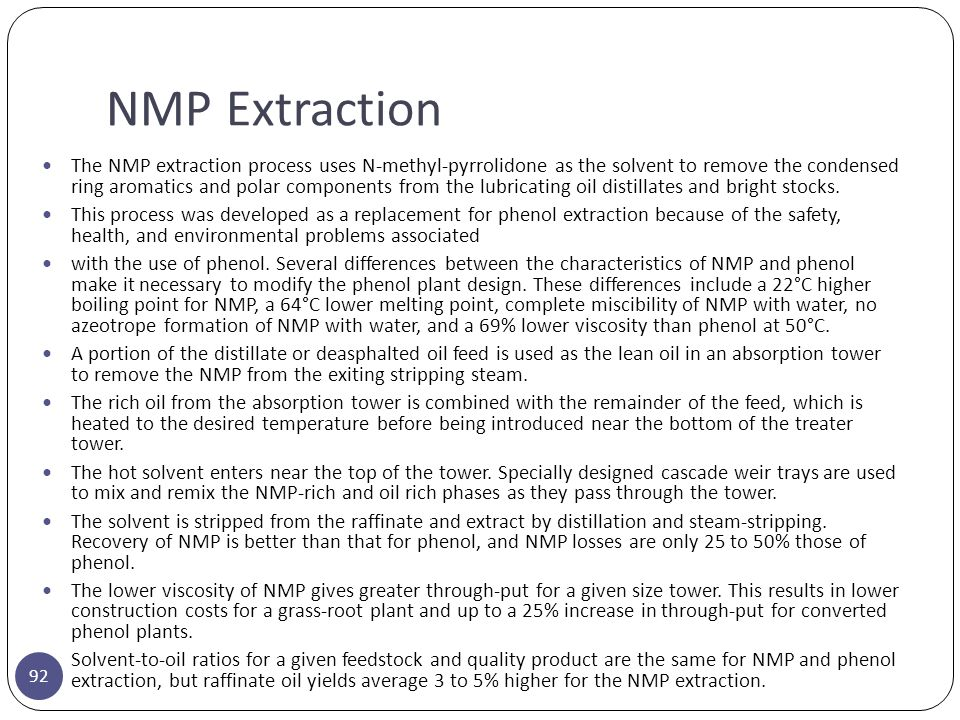 NMP Extraction