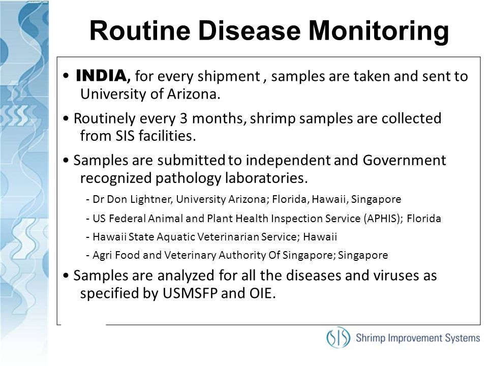 Routine Disease Monitoring