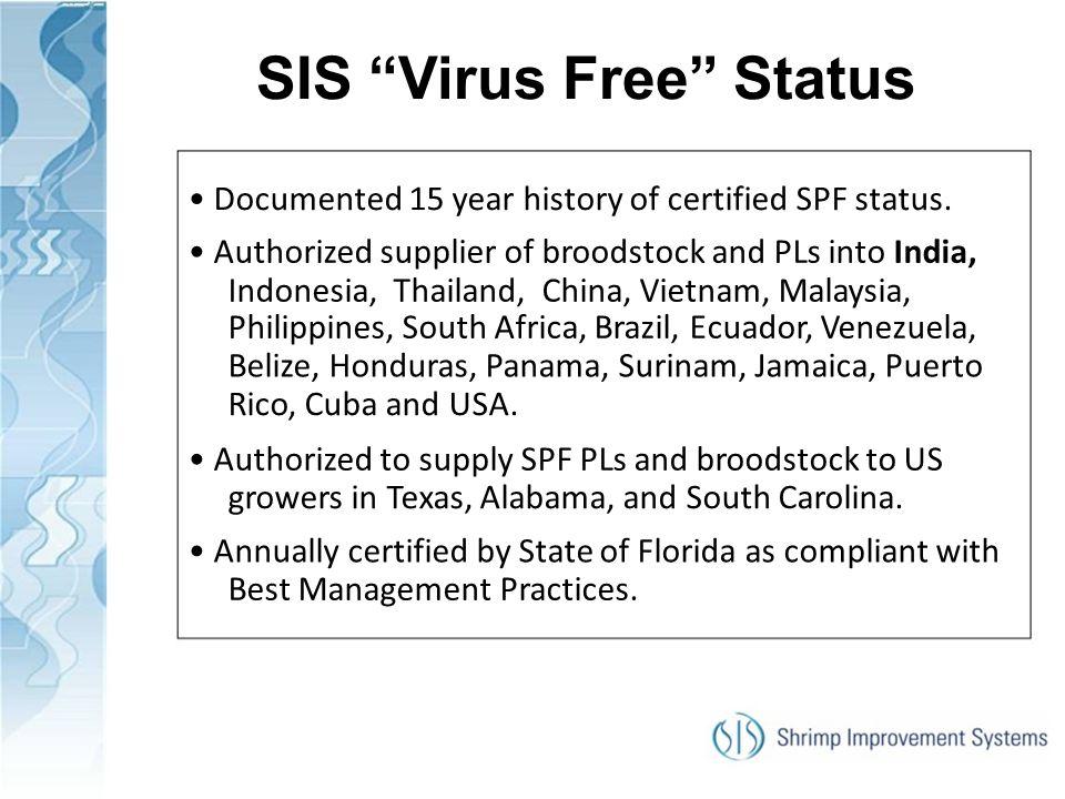 SIS Virus Free Status