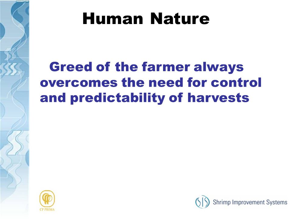 Human Nature Greed of the farmer always