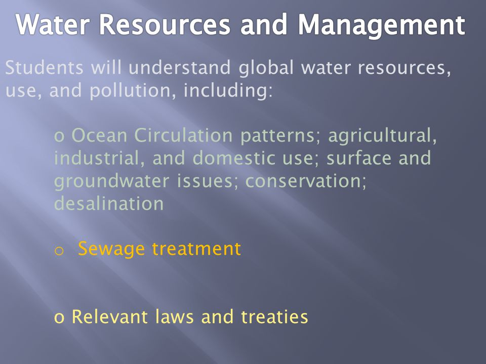 Water Resources and Management