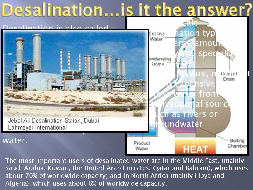 Desalination…is it the answer