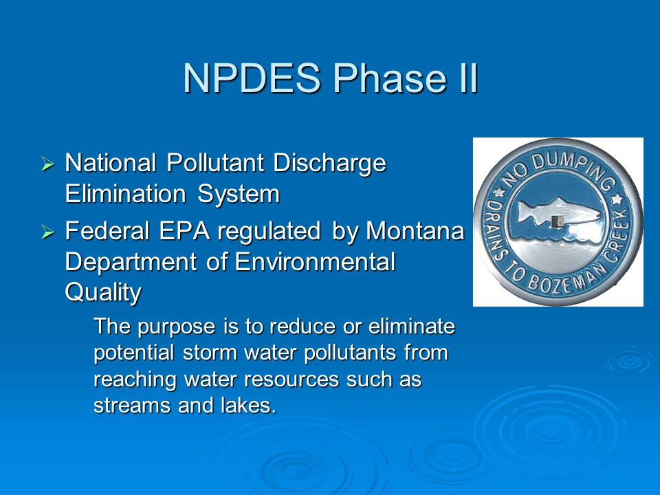 NPDES Phase II National Pollutant Discharge Elimination System