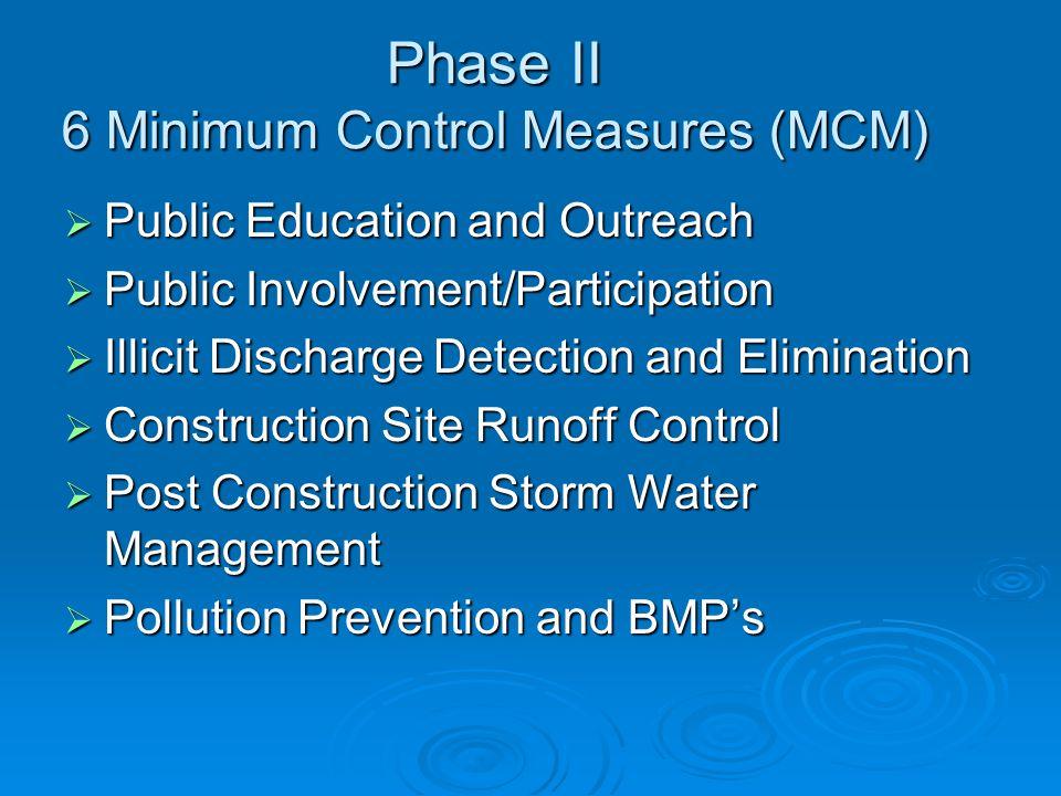 Phase II 6 Minimum Control Measures (MCM)