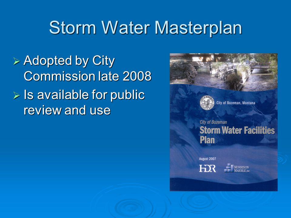 Storm Water Masterplan