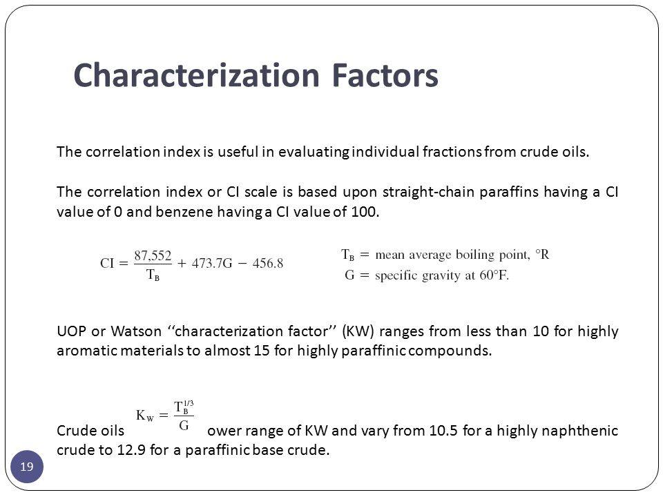 Characterization Factors